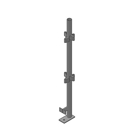 1.2M BOLT DOWN POST WITH STARS – HDG
