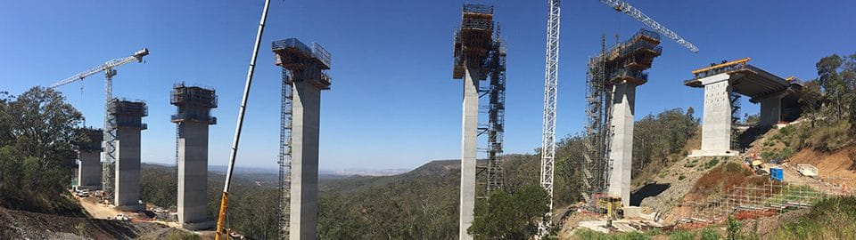Main Viaduct (TSRC) progress with Uni-span's formwork systems