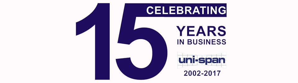 15 Years of business for Uni-span